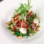 Superfood salad - buckwheat, quinoa, freekah, baby kale, roasted cashews, goji berries and a tah