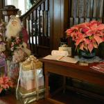 Entrance hall beautifully decorated for Christmas