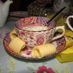 Butter and cream for scones were served beautifully