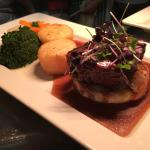 8oz Aberdeen Angus Fillet Steak served on a Pate & Marsala Jus covered Crostini with