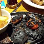 Don't eat here ever! This was the sizzling surf and turf that got served to me last Friday.  Unb