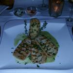 Grilled tofu and polenta