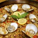seafood and clam paella