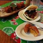 Croquetas and arepas