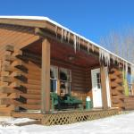Cabins are heated and available year-round