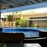 Swimming pool in resto area :)