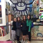 Seminary Students from Jerusalem visit Yom Tov Art Gallery in Tzfat Israel. Tzfat Artist Yom Tov