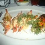 Snapper Fish and Prawn served with Roasted Veg on the side