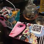 Some beautiful take away and lavender tea
