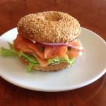Real bagel, lox and Philly