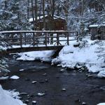 View of the bridge over Salmon Brook
