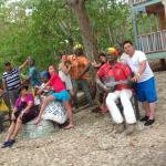 El grupo familiar con los que estuve en San Andres