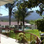 Garden and mountain view