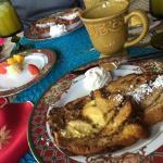 Breakfast at the villa