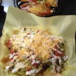Cheese enchiladas & Nachos
