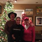Clark, Michelle, Al and Marsha enjoying our time at Foxfire