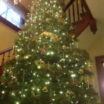 13' Christmas tree welcomes guests to White Swan Inn.