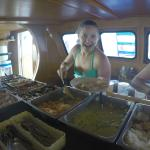 Great food on the boat!