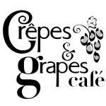 Crêpes & Grapes Café Logo