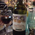 Red Greek Wine... Was good with lamb chops.