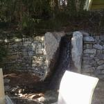 Waterfall leading to Koi pond