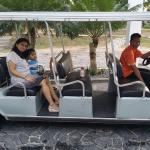 Family in resort Buggy