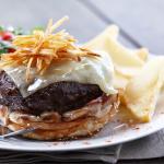 The famous Klipdrift burger