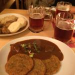 Goulash and Demon beer