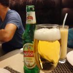 My first Kingfisher beer in New Delhi