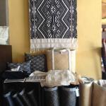 Taileu cotton, cushions and bamboo bags