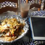 Breakfast Nachos and Iced Mocha