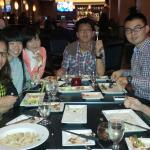 Enjoying the dinner
