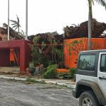 Hotel entrance after Hurricane Odile