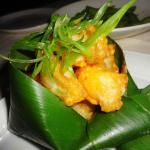 Tempura Lobster wrapped in a banana leaf