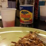 Arepa de Pollo con refresco colombiano