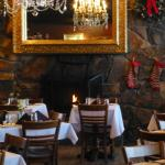 The lovely dining room at Goldminer's Daughter
