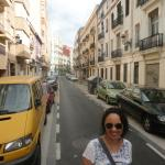 Rua próxima ao Hotel Petit Palace Germanias, Valência, Espanha