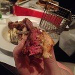 Pink burger. Raw?