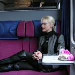 On the train to St Moritz