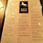 White Horse Menu
