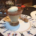 An amazing dessert at the Jean-Georges restaurant