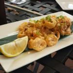 Calamari with a special citrus sauce.  Delicious!