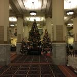 Very historic lobby was beautifully decorated.