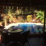 View of the pool from the poolside lounge