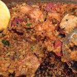 Paella with crust