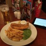 A very small fish and chips!