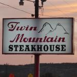 Twin Mountain Steakhouse Sign