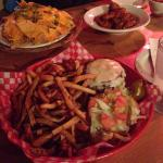 burger, fries, wings & nachos