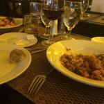 Seafood spaghettini and lamb bolognese...delicioso!