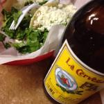 Perfect street tacos and a cold Pacifico!